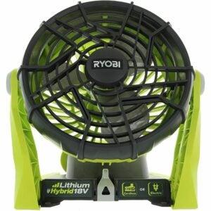 The Best Garage Fan Option: Ryobi P3320 18 Volt Hybrid Battery or AC Powered Fan