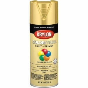 The Best Gold Spray Paint Options: Krylon COLORmaxx Metallic Gold Spray Paint and Primer