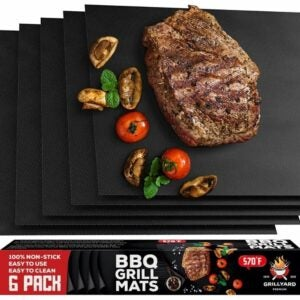 The Best Grill Mats Option: GRILLYARD Grill Mat Set of 6 – Non-Stick, Reusable