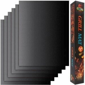 The Best Grill Mats Option: LOOCH Grill Mat Set of 6 - 100% Non-Stick BBQ Grill