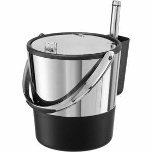 The Best Ice Bucket Option: Oggi Double-Wall Stainless Steel/Black Insulated