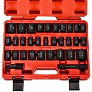 最佳冲击插座选项:Neiko 02447A 1/2英寸驱动器浅冲击插座组