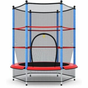 "The Best Indoor Trampoline for Kids Option: Giantex 55"" Trampoline, with Safety Enclosure Net"
