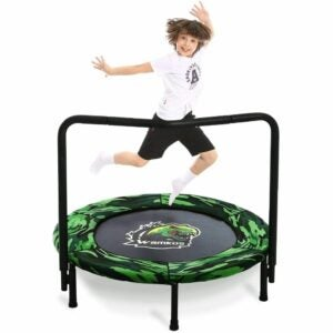 The Best Indoor Trampoline for Kids Option: Wamkos Dinosaur Mini Trampoline for Kids