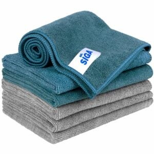 The Best Kitchen Towels Option: MR.SIGA Microfiber Cleaning Cloth, Pack of 6