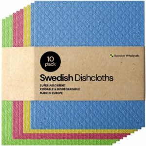 The Best Kitchen Towels Option: Swedish Dishcloth Cellulose Sponge Cloths