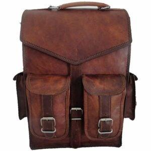 The Best Laptop Backpack Options: Handmade World Brown Vintage Leather Backpack