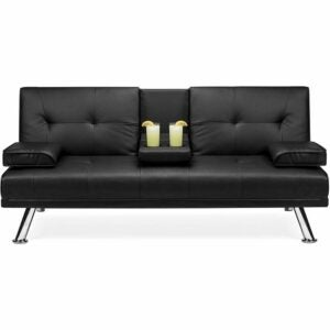 The Best Loveseat Options: Best Choice Products Faux Leather Upholstered Modern