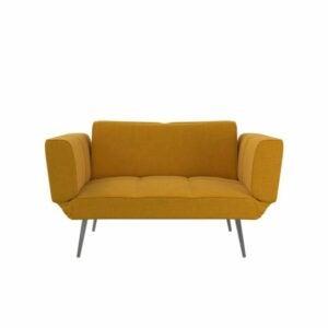 "The Best Loveseat Options: Novogratz Leyla 60"" Tight Back Convertible Sofa"
