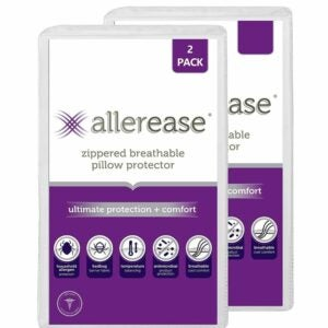 The Best Pillow Protector Options: AllerEase Pillow Protector Antimicrobial 2 Pack