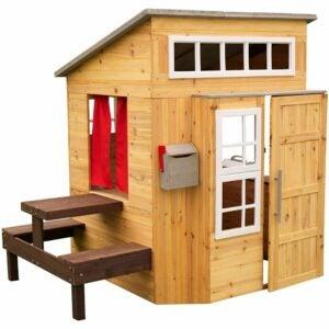 The Best Playhouse Option: KidKraft Modern Outdoor Wooden Playhouse