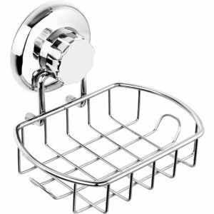 The Best Soap Dish Options: HASKO accessories Suction Soap Dish with Hooks