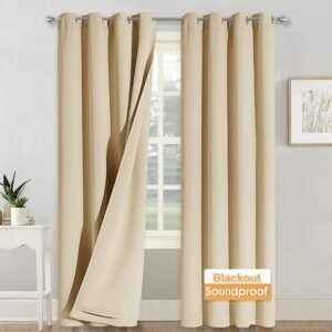 The Best Soundproof Curtains Options: RYB HOME Noise - Blackout - Thermal Insulated Long