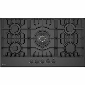 """The Best Gas Cooktop Options: Empava 36"""" Built-in Tempered Glass Gas Cooktops"""