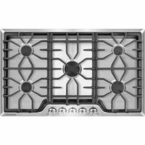最好的燃气灶具选择:电冰箱36英寸。不锈钢燃气灶台