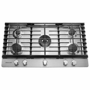 最好的气体灶具选择:厨房德德36英寸。燃气灶具不锈钢