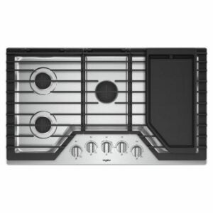 The Best Gas Cooktop Options: Whirlpool 36 in. Gas Cooktop in Stainless Steel
