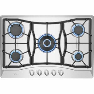 """The Best Gas Cooktop Options: Empava 30"""" Stainless Steel 5 Italy Sabaf Burners"""