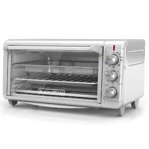 Best Air Fryer Toaster Oven Options: Black+Decker TO3265XSSD Extra Wide Crisp