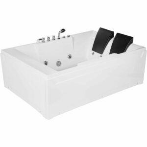 """最好的浴缸选项:empava 72""""丙烯酸漩涡浴缸浴缸2人"""