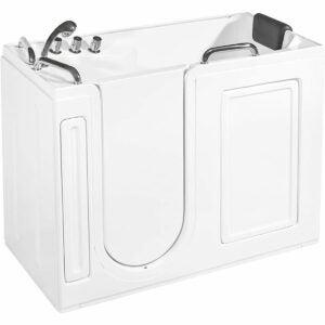 最好的浴缸选项:Empava亚克力独立式步入式浴缸