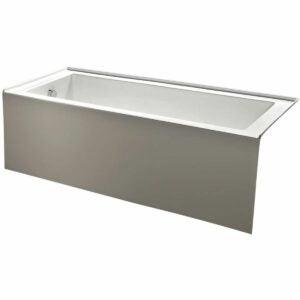 最好的浴缸选项:金士顿黄铜60英寸现代风格alcove浴缸