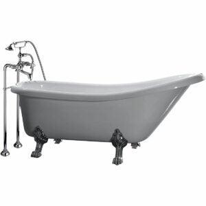 最好的浴缸选项:Ove Decors 66英寸Clawfoot和龙头