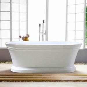 最好的浴缸选项:Vanity Art 59 x 30独立式亚克力浴缸