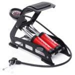 Best Bike Pump Options: Audew Dual-Cylinder Foot Pump