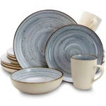 Best Dinnerware Set Options: Elama Round Stoneware Luxurious Mellow Dinnerware
