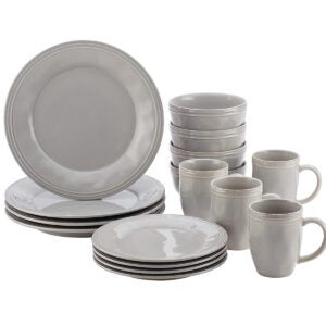 Best Dinnerware Set Options: Rachael Ray Cucina Dinnerware 16-Piece Stoneware Dinnerware Set