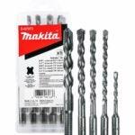 用于混凝土选项的最佳钻头:Makita 5件 -  SDS-Plus钻头为SDS +设置