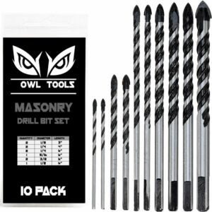 The Best Drill Bits for Concrete Options: Owl Tools 10 Piece Masonry Drill Bits Set