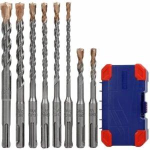 The Best Drill Bits for Concrete Options: WORKPRO 8-Piece SDS-plus Drill Bit Set, Carbide Tip