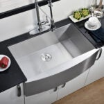 Best Farmhouse Sink Options: Comllen Commercial 33 Inch 304 Stainless Steel