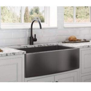 Best Farmhouse Sink Options: Ruvati Gunmetal Black Matte Stainless Steel