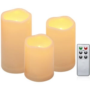 The Best Flameless Candles Options: Flameless Candles, Outdoor Indoor Waterproof Battery Candles