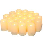 The Best Flameless Candles Options: Flameless Flickering Votive Tea Lights Candles