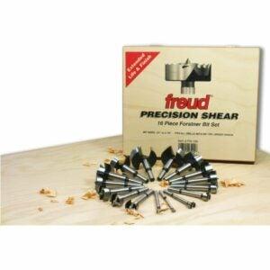 The Best Forstner Bit Set Option: Freud 16 Pcs. Precision Shear Forstner Drill Bit Set