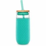The Best Glass Water Bottle Options: Ello Devon Glass Tumbler with Silicone Sleeve