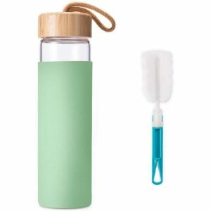 The Best Glass Water Bottle Options: Yomious 20 Oz Borosilicate Glass Water Bottle