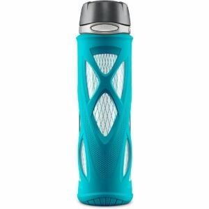 The Best Glass Water Bottle Options: ZULU Atlas Glass Water Bottle with Silicone Sleeve