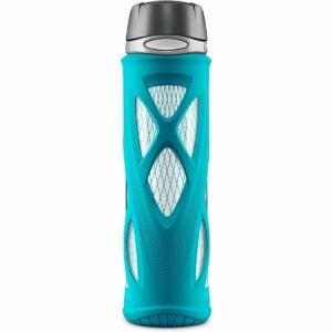 最好的玻璃水瓶选项:祖鲁阿特拉斯玻璃水瓶配有机硅套筒