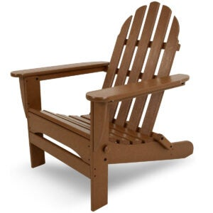 The Best Patio Chairs Options: POLYWOOD AD5030TE Classic Folding Adirondack Chair