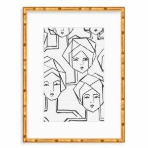 The Best Poster Frames Option: Framebridge Mandalay Gold Bamboo Frame