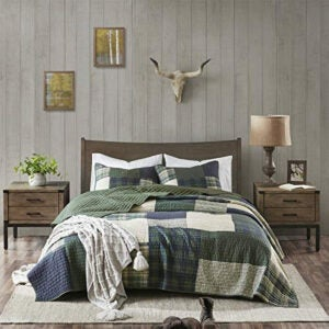 Best Quilts Options: Woolrich 100% Cotton Quilt Reversible Plaid Cabin