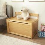 最佳玩具盒选择:玛丽莎&道格木制玩具箱-自然