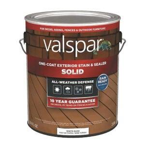 最佳固体甲板染色选项:可调性 - 白色底座固体 - 外墙 - 污渍和封口机