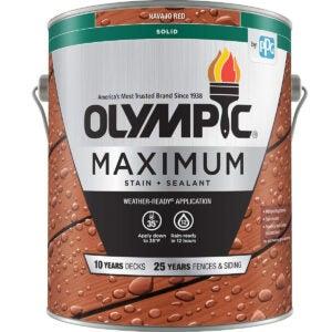 最佳固体甲板染色选项:best_solid_deck_stain - Olympic Stain 79614 Maximum Wood Stain and Sealer