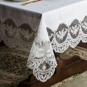 The Best Tablecloths Options: ARTABLE Lace Table Cloths Rectangle Fall Antique
